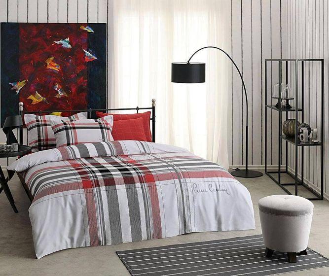 Pierre Cardin Sateen Supreme Bed Linen 6 piece Set, Squares