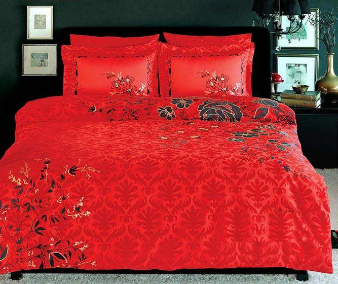 Pierre Cardin Sateen Supreme Bed Linen 6 piece Set, Passion