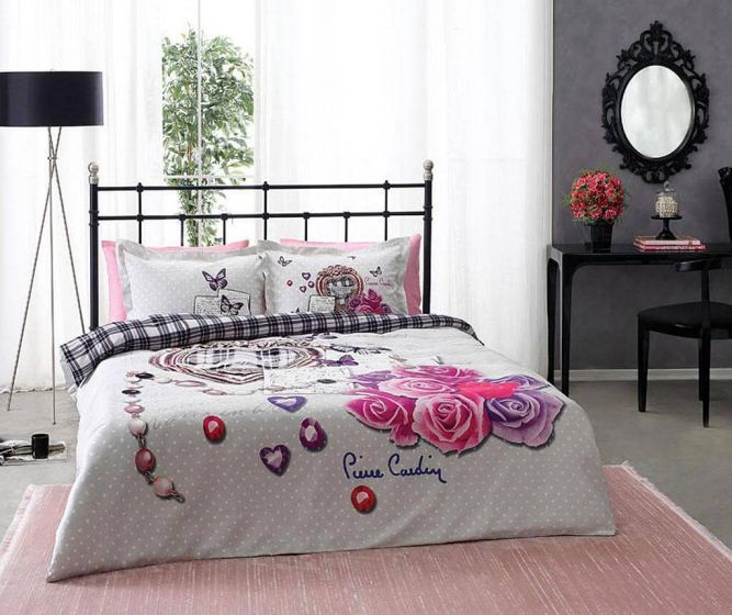 Pierre Cardin Refined Sateen Cotton Bed Linen 4 piece Set, Presents
