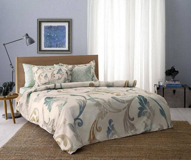 Pierre Cardin Refined Sateen Cotton Bed Linen 4 piece Set, Calmness