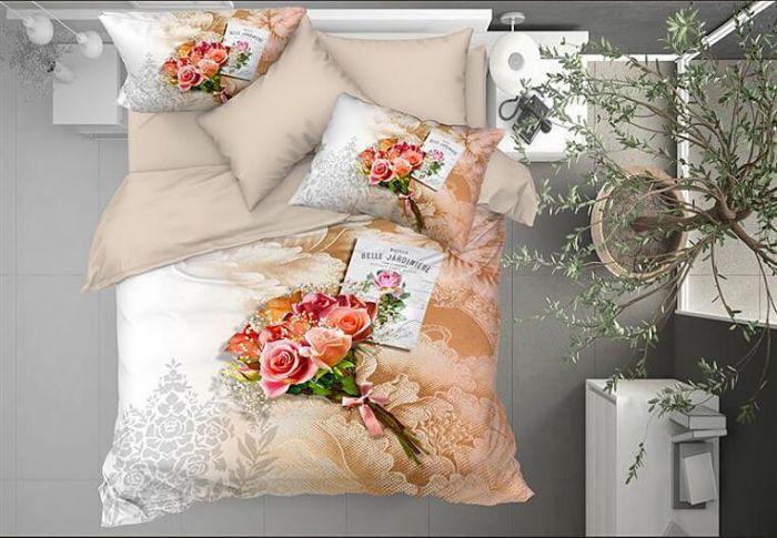 3D DeLuxe Cotton Sateen Bed Linen 6 piece Set, Nina