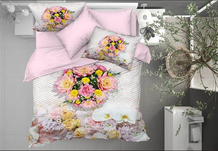 3D DeLuxe Cotton Sateen Bed Linen 6 piece Set, Viviana