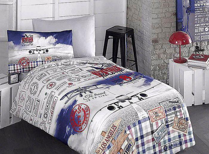 Fine Ranforce Kids Bed Linen 3 pieces Set, Let's Go