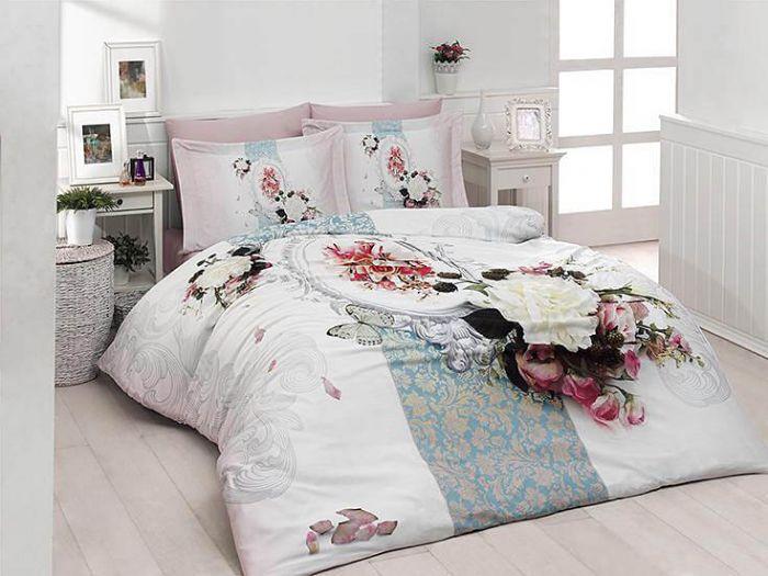 3D DeLuxe Cotton Sateen Bed Linen 6 piece Set, Amara