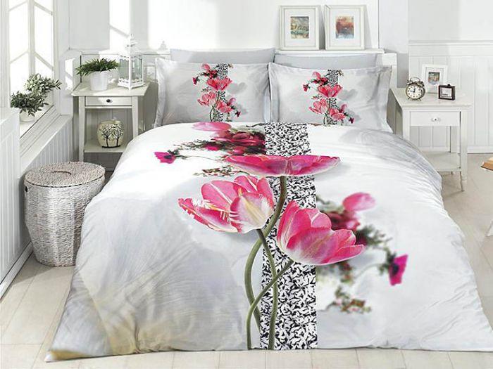 3D DeLuxe Cotton Sateen Bed Linen 6 piece Set, Brenda