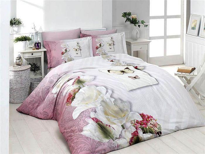 3D DeLuxe Cotton Sateen Bed Linen 6 piece Set, Carley