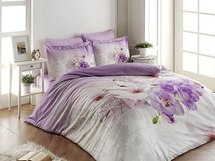 3D DeLuxe Cotton Sateen Bed Linen 6 piece Set, Denise