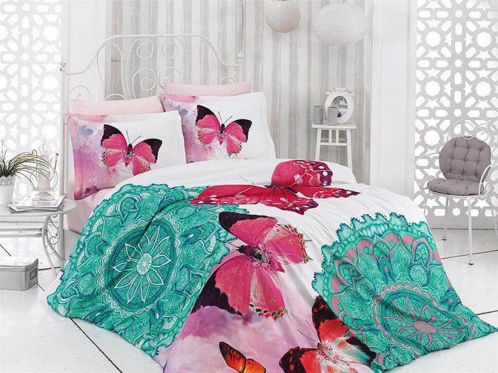 3D DeLuxe Cotton Sateen Bed Linen 6 piece Set, Karina