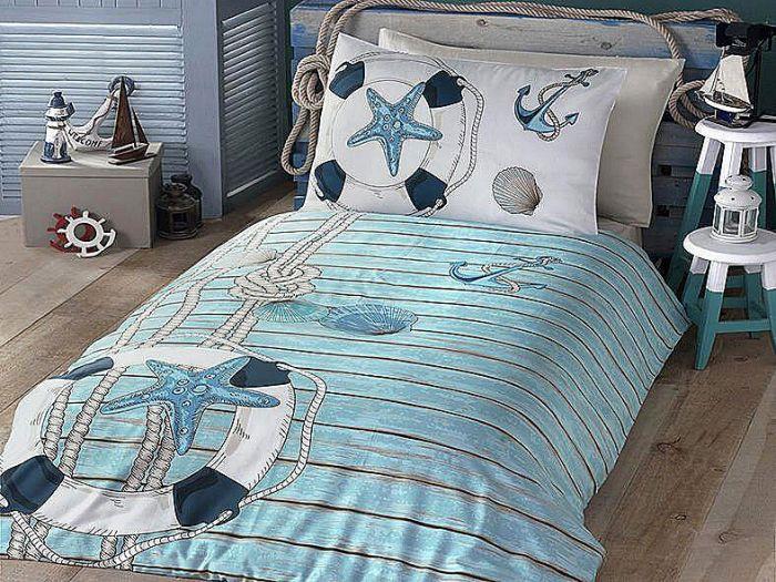 Fine Ranforce Kids Bed Linen 3 pieces Set, Marine Design