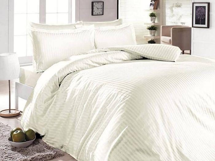 Luxurious Jacquard Sateen Bed Linen 6 pieces Set, Krem