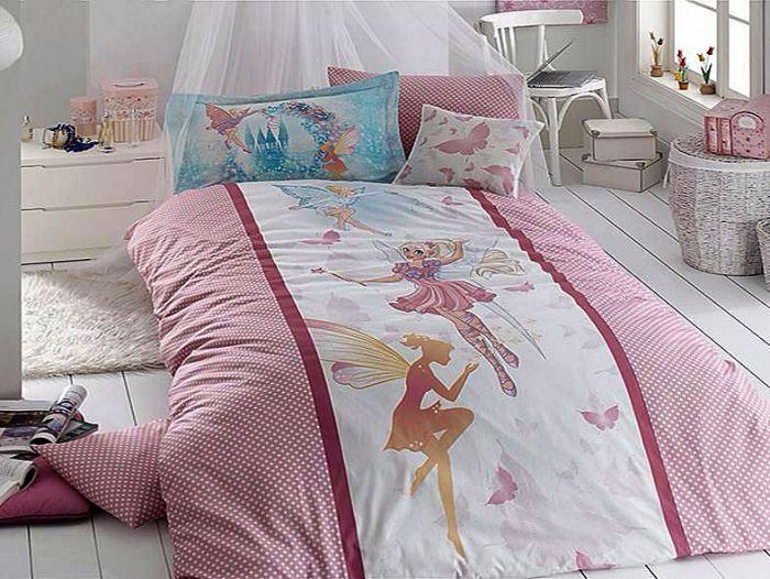 Luxury Ranforce Kids Bed Linen 3 pieces Set, Girl Butterfly