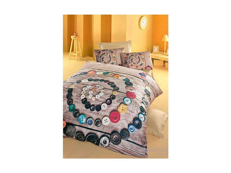 3D Organic Bamboo Baby Bed Linen 6 Pieces Set, Buttons